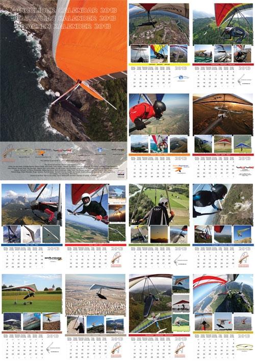 Страницы дельтапланерного календаря на 2013 год