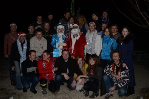 Участники Кубка Деда Мороза на Горе Клементьева